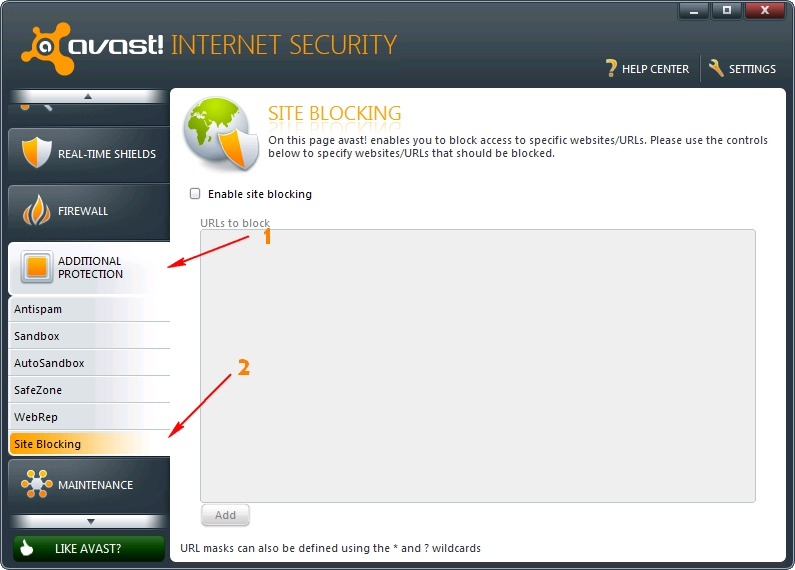 Avast Site Blocker