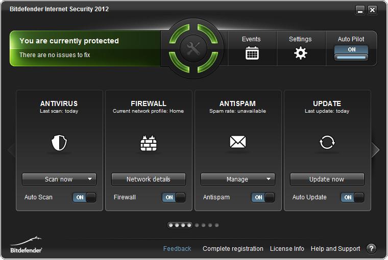 BitDefender Main Interface