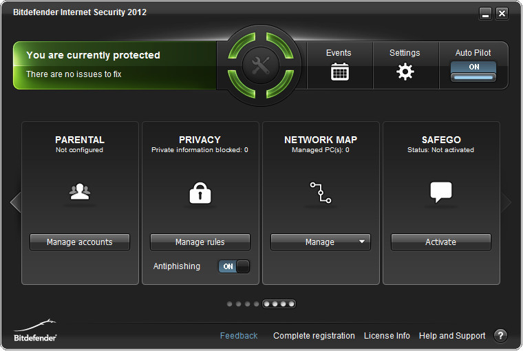 BitDefender Main Interface 2