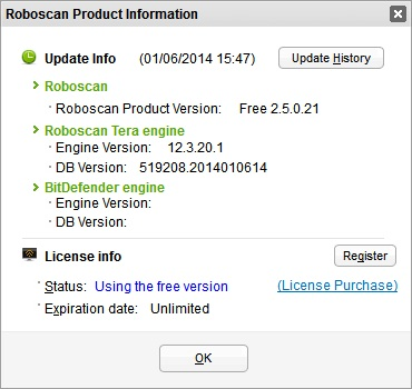 Roboscan Engine information